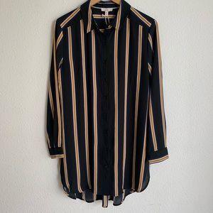 NWT Como Vintage striped button down tunic